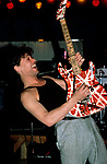 Eddie Van Halen of Van Halen performing in 1987.<br />