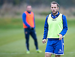 St Johnstone Training…18.10.19<br />Stevie May pictured during training this morning at McDiarmid Park ahead of tomorrow's game at St Mirren<br />Picture by Graeme Hart.<br />Copyright Perthshire Picture Agency<br />Tel: 01738 623350  Mobile: 07990 594431