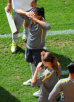 Marta of team Brazil at a training session during the FIFA Women's World Cup at the FIFA Stadium in Dresden, Germany on July 9th, 2011.