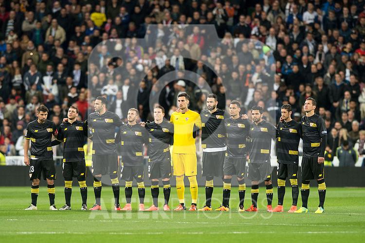 Sevilla FC during La Liga match. March 20,2016. (ALTERPHOTOS/Borja B.Hojas)