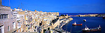 Malta Panorama - View over the harbour in Valletta, Malta<br /> <br /> Image taken on large format panoramic 6cm x 17cm transparency. Available for licencing and printing. email us at contact@widescenes.com for pricing.