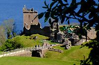 Highlands, Loch Ness, Urquhart Castle<br /> Scotland May 8th - 19th. Trip across Scotland<br /> Foto Samantha Zucchi Insidefoto