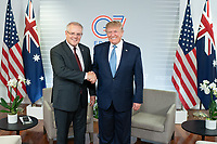 President Donald J. Trump participates in a meeting with the Prime Minister of Australia Scott Morrison at the Centre de Congrés Bellevue Sunday, Aug. 25, 2019, in Biarritz, France, site of the G7 Summit. (Official White House Photo by Shealah Craighead)