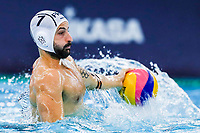 14-02-2021: Waterpolo: France v Russia: Rotterdam<br /> <br /> ROTTERDAM, NETHERLANDS - FEBRUARY 14: Ugo Crousillat of France during the Olympic Waterpolo Qualification Tournament 2021 match between France and Russia at Zwemcentrum Rotterdam on February 14, 2021 in Rotterdam, Netherlands (Photo by Marcel ter Bals/Orange Pictures)