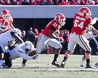 Athens, Georgia - November 22, 2014: The number 9 ranked Georgia Bulldogs beat the Charleston Southern Buccaneers 55-9 at Sanford Stadium.