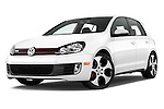Low aggressive front three quarter view of a 2013 Volkswagen GTI 4 Door hatchback2013 Volkswagen GTI 4 Door hatchback