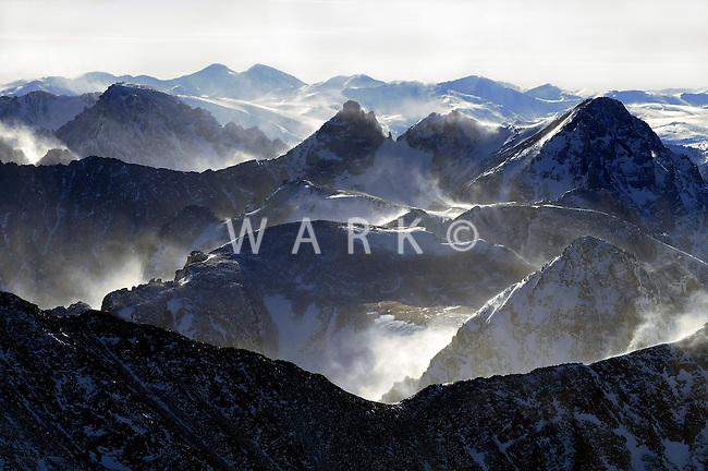 Colorado Rockies in winter, west of Boulder, Colorado.  JCW3358