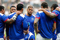 Samoa replacement Jack Lam warms up - Mandatory byline: Rogan Thomson - 03/10/2015 - RUGBY UNION - Stadium:mk - Milton Keynes, England - Samoa v Japan - Rugby World Cup 2015 Pool B.