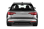 Straight rear view of a 2020 Audi A4 S-Line 5 Door Wagon stock images