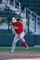 Boston Red Sox Christian Arroyo (39) bats during a Major League Spring Training game against the Atlanta Braves on March 7, 2021 at CoolToday Park in North Port, Florida.  (Mike Janes/Four Seam Images)