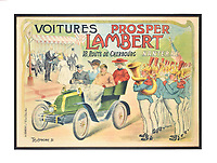BNPS.co.uk (01202 558833)<br /> Pic: Dreweatts/BNPS<br /> <br /> Pictured: This 1905 poster is on sale for £500<br /> <br /> A glamorous collection of early French motorsport posters has emerged for sale with a British auction house for £25,000.<br /> <br /> The earliest examples date from 1900 showing well-heeled Parisians chauffeured in vintage cars on the capital's streets.<br /> <br /> The vehicles are flanked by marching bands with passengers in their finest clothes to reinforce the element of prestige.<br /> <br /> There is a striking 1902 French poster of a British Mulberry car in the Scottish Highlands, while another celebrates the 1934 Grand Parade Vichy.