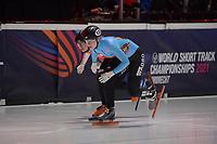 SPEEDSKATING: DORDRECHT: 05-03-2021, ISU World Short Track Speedskating Championships, Tineke den Dulk (BEL), ©photo Martin de Jong