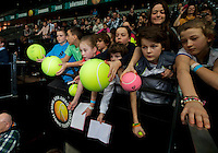 Rotterdam, The Netherlands. 16.02.2014.   ABN AMRO World tennis Tournament of 2014, Autograph hunters<br /> Photo:Tennisimages/Henk Koster