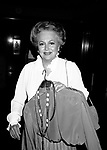 Olivia De havilland arriving for NIGHT OF 100 STARS Benefit at the Hilton Hotel on February 29, 1985 in New York City.