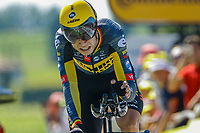 17th July 2021, St Emilian, Bordeaux, France;  VAN AERT Wout (BEL) of JUMBO - VISMA during stage 20 of the 108th edition of the 2021 Tour de France cycling race, an individual time trial stage of 30,8 kms between Libourne and Saint-Emilion.