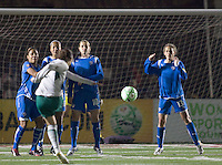 Boston Breakers wall. The Boston Breakers defeated Saint Louis Athletica, 2-0, at Harvard Stadium on April 11, 2009.