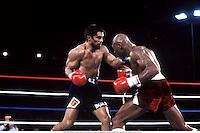 10th November 1983; Las Vegas, Nevada, USA; ROBERTO DURAN, battles Marvelous Marvin Hagler during their Middleweight title bout in Las Vegas, Nevada USA