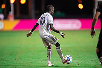 LAKE BUENA VISTA, FL - JULY 14: Jamiro Monteiro #10 of the Philadelphia Union dribbles the ball during a game between Inter Miami CF and Philadelphia Union at Wide World of Sports on July 14, 2020 in Lake Buena Vista, Florida.