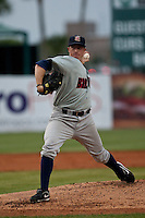 April 10th 2010:  Dan Merklinger of the Brevard County Manatees, the Florida State League High-A affiliate of the Milwaukee Brewers in a game against the of the Daytona Cubs, the Florida State League High-A affiliate of the Chicago Cubs at Jackie Robinson Ballpark in Daytona Beach, FL (Photo By Scott Jontes/Four Seam Images)