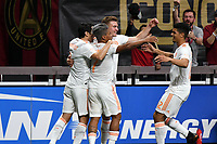 goalAtlanta, Georgia - Saturday April 7, 2018: Atlanta United FC defeated LAFC 5-0 during an MLS match at Mercedes Benz Stadium in front of a sellout crowd of 45,207.