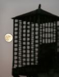 The rising moon travels up the side of the guard station on the east side of Alcatraz.  A group of photographers from the Media Alliance overnighted on Alcatraz and documented their tour in San Francisco, California.