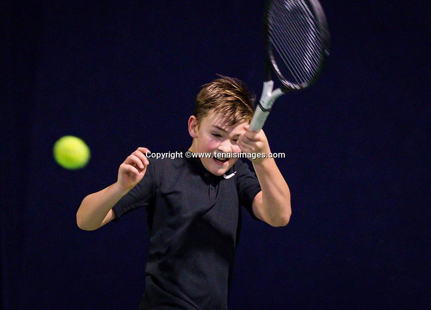 Hilversum, Netherlands, December 2, 2018, Winter Youth Circuit Masters, Ties de Regt (NED)<br /> Photo: Tennisimages/Henk Koster