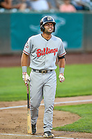 John Sansone (26) of the Billings Mustangs at bat against the Ogden Raptors in Pioneer League action at Lindquist Field on August 12, 2016 in Ogden, Utah. Billings defeated Ogden 7-6. (Stephen Smith/Four Seam Images)