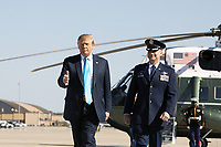 President Donald J. Trump disembarks Marine One and prepares to board Air Force One at Joint Base Andrews, Md. Wednesday, April 10 2019, en route to Texas<br /> <br /> People:  President Donald Trump