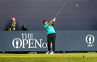 160719 | The 148th Open - Tuesday Practice<br /> <br /> Francesco Molinari of Italy on the first tee during practice for the 148th Open Championship at Royal Portrush Golf Club, County Antrim, Northern Ireland. Photo by John Dickson - DICKSONDIGITAL