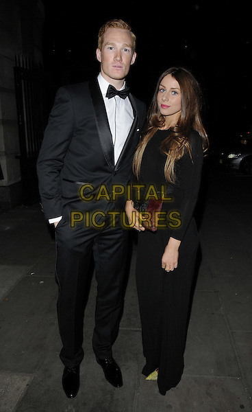 LONDON, ENGLAND - NOVEMBER 30: Greg Rutherford & Susie Verill at the Emeralds & Ivy Ball, Old Billingsgate, Old Billingsgate Walk, on Saturday November 30,  2013 in London, England, UK.<br /> CAP/CAN<br /> ©Can Nguyen/Capital Pictures