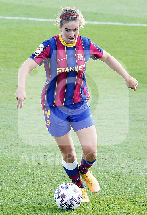 First official match and first classic in the history of women's Real Madrid.<br /> FC Barcelona's Mariona Caldentey during Spanish Female League match. October 4,2020. (ALTERPHOTOS/Acero)