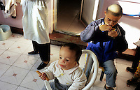 CHINA. Beijing. Young, mentally handicapped orphans in an orphanage outside of Beijing. 2007. There are currently millions of orphans in China living in orphanages spread throughout the country. As a result of China's one-child policy, many children are abandoned or given up if they suffer from any physical or mental handicap as the parents strive to have a child born 'normal' and well. This has led to may children being abandoned to live in state and privately-owned orphanages.
