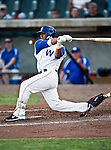 Fort Worth Cats Outfielder Jeremy Sauceda (17) in action during the American Association of Independant Professional Baseball game between the Amarillo Sox and the Fort Worth Cats at the historic LaGrave Baseball Field in Fort Worth, Tx. Fort Worth defeats Amarillo 5 to 3.