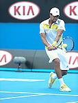 Jo Wilfried Tsonga (FRA) wins at Australian Open in Melbourne Australia on 17th January 2013