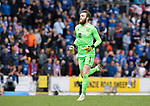 St Johnstone v Rangers…11.09.21  McDiarmid Park    SPFL<br />Zander Clark makes his way forward for a late corner kick<br />Picture by Graeme Hart.<br />Copyright Perthshire Picture Agency<br />Tel: 01738 623350  Mobile: 07990 594431