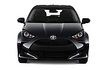 Car photography straight front view of a 2020 Toyota Yaris Dynamic 5 Door Hatchback Front View
