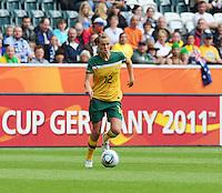 Fifa Women's World Cup Germany 2011 : Brazil - Australia  at Borussia - Park in Munchengladbach : Emily Van Egmond.foto DAVID CATRY / Vrouwenteam.be