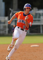October 25, 2009: Richie Shafer of the Clemson Tigers in an intra-squad Orange and Purple scrimmage game at the end of fall practice at Doug Kingsmore Stadium in Clemson, S.C. Photo by: Tom Priddy/Four Seam Images