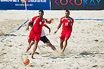 MERHI Mohamad of Lebanon in action during the Beach Soccer Men's Team Bronze Medal Match between Lebanon and Afghanistan on Day Nine of the 5th Asian Beach Games 2016 at Bien Dong Park on 02 October 2016, in Danang, Vietnam. Photo by Marcio Machado / Power Sport Images