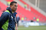 Connacht's Head Coach Pat Lam during the pre match warm up<br /> <br /> Rugby - Scarlets V Connacht - Guinness Pro12 - Sunday 15th Febuary 2015 - Parc-y-Scarlets - Llanelli<br /> <br /> © www.sportingwales.com- PLEASE CREDIT IAN COOK