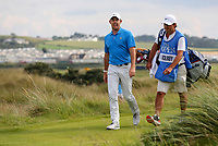 160719 | The 148th Open - Tuesday Practice<br /> <br /> Rory Mcilroy with is caddie Harry Diamond on the 17th during practice for the 148th Open Championship at Royal Portrush Golf Club, County Antrim, Northern Ireland. Photo by John Dickson - DICKSONDIGITAL