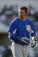 September 1 2008: Scott Van Slyke of the Inland Empire 66'ers during game against the Rancho Cucamonga Quakes at The Epicenter in Rancho Cucamonga,CA.  Photo by Larry Goren/Four Seam Images