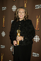 Montreal (Qc) CANADA - March 29 2009 - Jutras award  Gala (for Quebec Cinema) : Angele Coutu, meilleure actrice de soutien (best supporting actress) , Bordeline