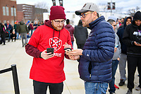 Washington, DC - Sunday JAN 26, 2020: Fans lined up outside of Audi Field to have their tickets scanned before entering the DC Defenders open house at  Audi Field in Washington, DC. (Photo by Phil Peters/Media Images International)