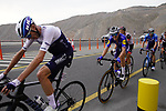 Chris Froome (GBR) Israel Start-Up Nation leads Fausto Masnada (ITA) Deceuninck-QuickStep, Davide Formolo (ITA) and Mikkel Bjerg (DEN) UAE Team Emirates, Davide Villella (ITA) and Antonio Pedrero (ESP) Movistar Team up the final 4km of Jais Mountain during Stage 5 of the 2021 UAE Tour running 170km from Fujairah to Jebel Jais, Ras Al Khaimah, UAE. 25th February 2021.  <br /> Picture: Eoin Clarke   Cyclefile<br /> <br /> All photos usage must carry mandatory copyright credit (© Cyclefile   Eoin Clarke)