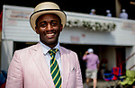 SARATOGA SPRINGS, NY - AUGUST 25: A man is dressed in his finest on Travers Stakes Day at Saratoga Race Course on August 25, 2018 in Saratoga Springs, New York. (Photo by Scott Serio/Eclipse Sportswire/Getty Images)