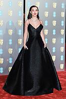 Amy Jackson<br /> arriving for the BAFTA Film Awards 2019 at the Royal Albert Hall, London<br /> <br /> ©Ash Knotek  D3478  10/02/2019