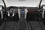 Stock photo of straight dashboard view of a 2015 Toyota 4Runner Limited 5 Door SUV