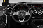 Car pictures of steering wheel view of a 2019 Mercedes Benz A-Class - 5 Door Hatchback Steering Wheel