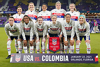 USWNT v Colombia, January 22, 2021